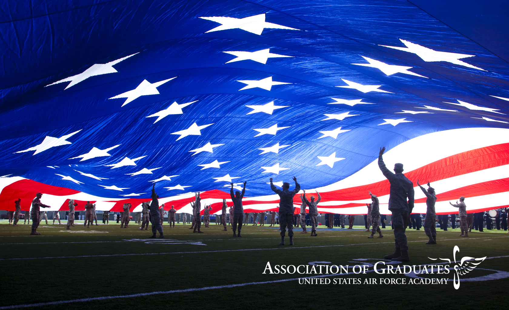 Air Force Academy US Flag Wallpaper 1680x1024